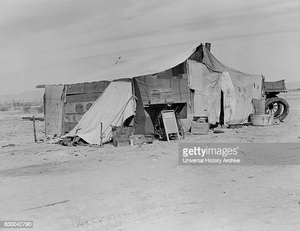 Home of Dust Bowl Refugee, Imperial County, California, USA, Dorothea Lange for Farm Security Administration, March 1937.