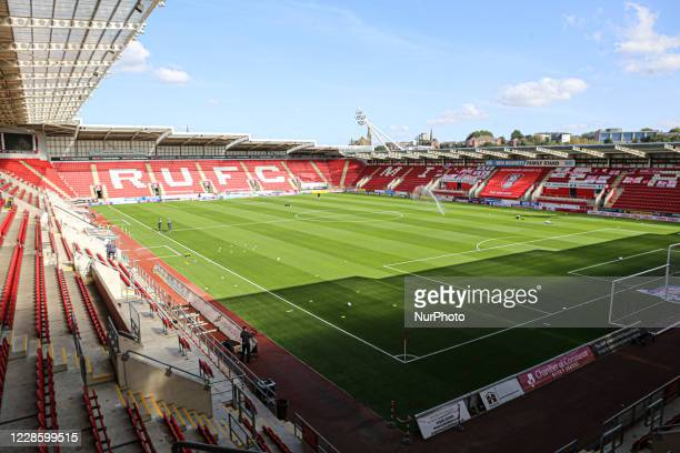 Home of Rotherham United FC. Ahead of the Sky Bet Championship match between Rotherham United and Millwall at the New York Stadium, Rotherham,...