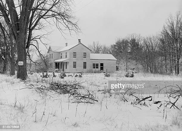 Home of serial killer Ed Gein in Plainfield in Wisconsin in 1957. Gein murdered women in his town and robbed many graves in the area.