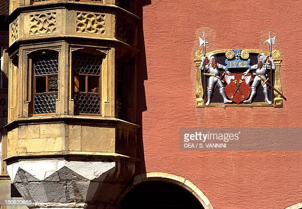 Home of the Carpenters' guild Ring in BielBienne Bern canton Detail Switzerland