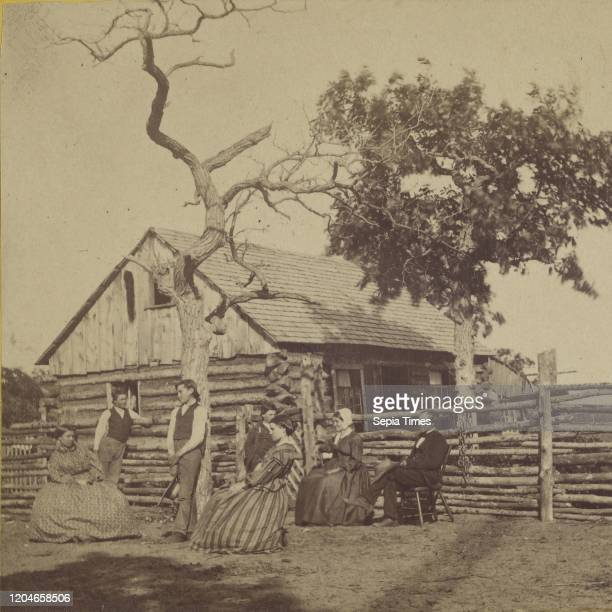 Home of the Pioneer - 50 Miles above the Falls of St Anthony on the Le Francis River, Minnesota, B. F. Upton , about 1870, Albumen silver print.