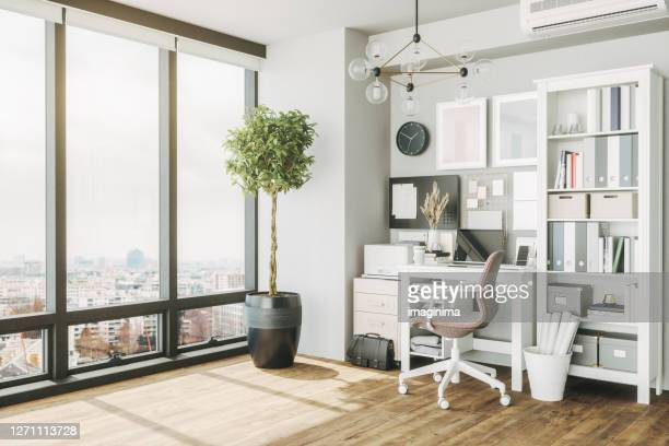 home office interior - home office stock pictures, royalty-free photos & images
