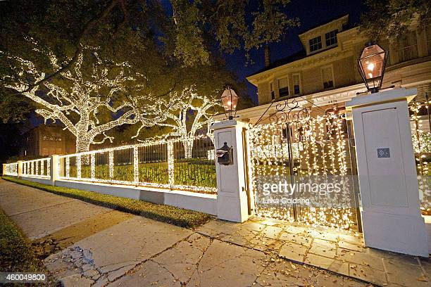 Home on St. Charles Avenue is decorated for Christmas on December 5, 2014 in New Orleans, Louisiana.