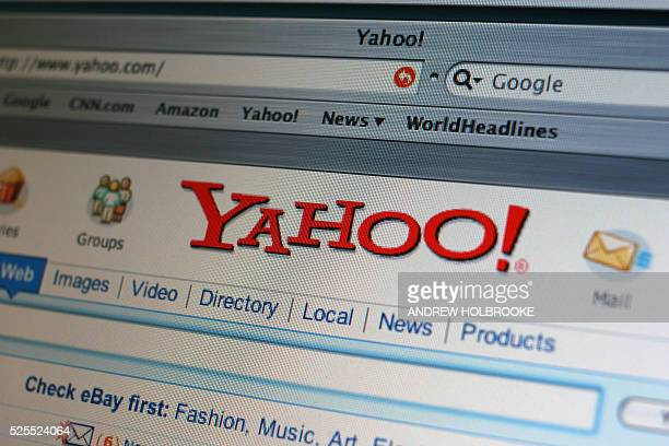 Home page of the Yahoo search engine.