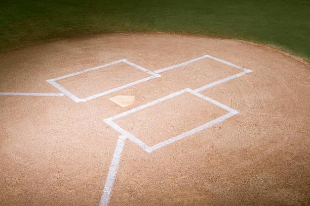 Home Plate Of Baseball Diamond Wall Art