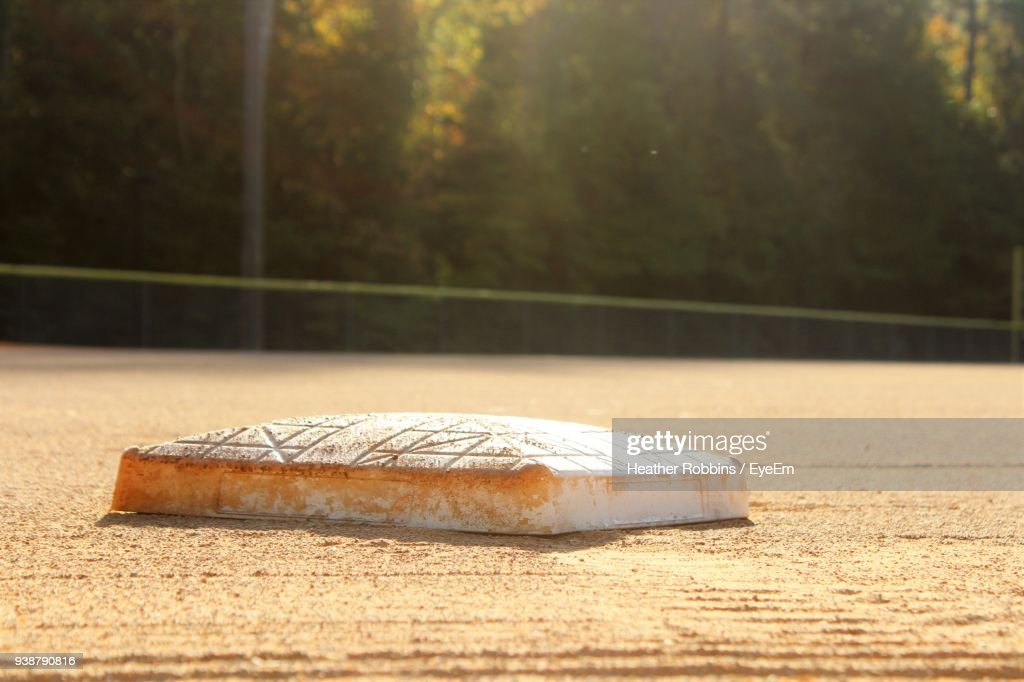 Home Plate Of Baseball Field : Stock Photo