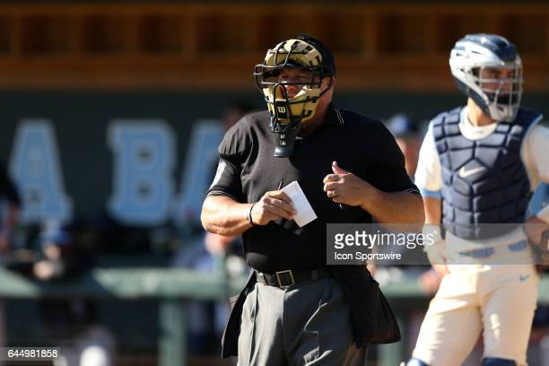 Home Plate Umpire Michael Parnell. The University of North Carolina Tar Heels hosted the University of Kentucky Wildcats in a College baseball game...