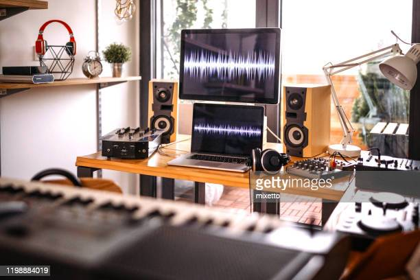 home recording studio - recording studio stock pictures, royalty-free photos & images