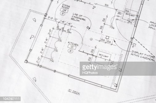 home remodel blueprint of a kitchens electrical plan stock photo - getty  images