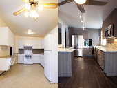 Home Renovations Kitchen Before and After