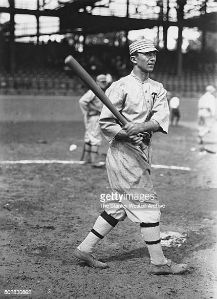 Home Run Baker of the of the Philadelphia Athletics is shown posing for his portrait circa 1916