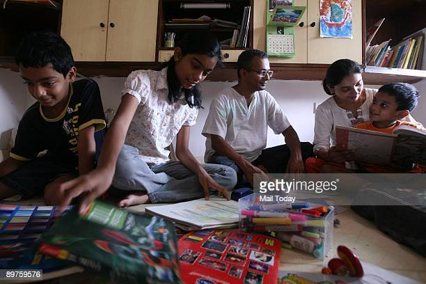 Home Schooling Parents Arun Elassery and wife Kanti does not believe in the factory system of Education.