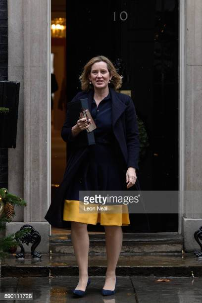 Home Secretary Amber Rudd leaves Downing Street following a cabinet meeting on December 11 2017 in London England
