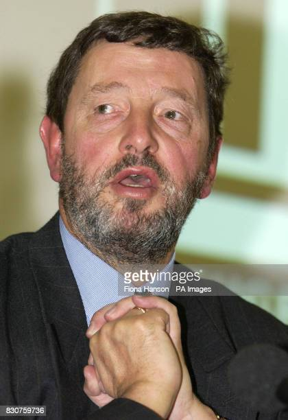 Home Secretary David Blunkett answers questions after giving his speech to the Refugee Council's Annual General Meeting in central London * A prison...