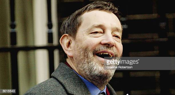 Home Secretary David Blunkett arrives for the weekly cabinet meeting, February 26, with the Prime Minister Tony Blair in Downing Street, London,...