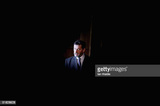 Home Secretary David Blunkett attends the launch of a video intended to educate children away from crime, December 6, 2004 in London, England....