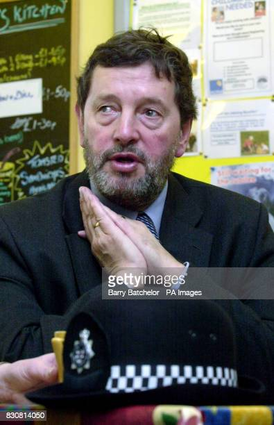 Home Secretary David Blunkett during his visit to the Easton Christian Family Life Centre in Bristol on the day set out new stopandsearch guidelines...
