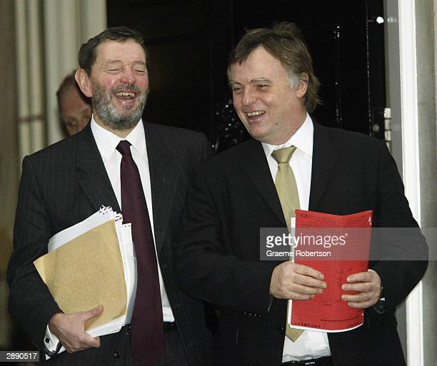 Home Secretary David Blunkett leaves 10 Downing Street after the weekly cabinet January 22 2004 in London England Prime Minister Tony Blair is facing...