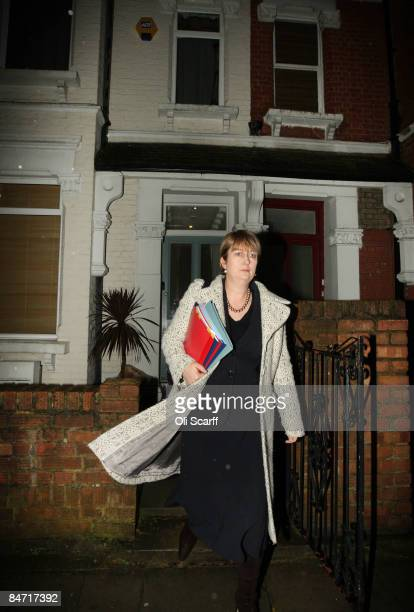 Home Secretary Jacqui Smith leaves her sister's home in Southwark which she claims as her main residence on February 10, 2009 in London, England....