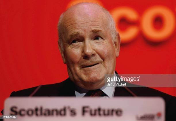 Home Secretary John Reid addresses the Scottish Labour Party Conference at the Corran Halls on November 26, 2006 in Oban, Scotland.Reid attacked the...