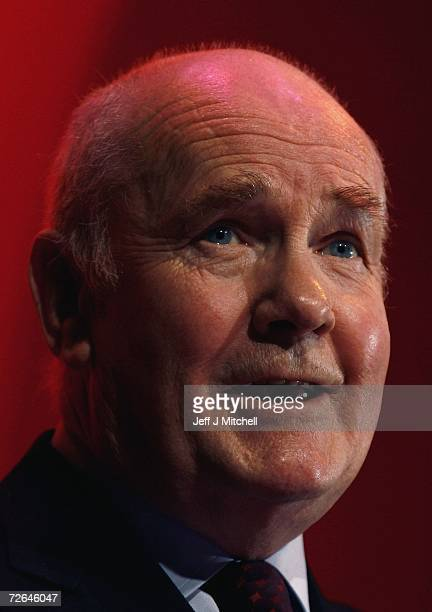 Home Secretary John Reid addresses the Scottish Labour Party Conference at the Corran Halls on November 26 2006 in Oban Scotland Reid attacked the...