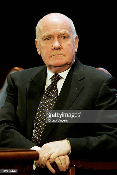 Home Secretary, John Reid prepares to deliver his keynote speech at the Royal United Services Institute conference on April 15, 2007 in London. In an...