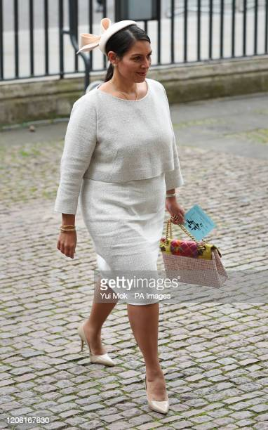 Home Secretary Priti Patel arrives at the Commonwealth Service at Westminster Abbey, London on Commonwealth Day. The service is the Duke and Duchess...