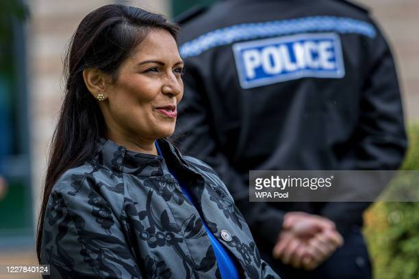 Home Secretary, Priti Patel visits The North Yorkshire police with Prime Minster, Boris Johnson and are introduced to recently graduated Police...