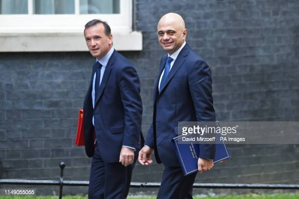 Home Secretary Sajid Javid and Welsh Secretary Alun Cairns arrive for a cabinet meeting at 10 Downing Street London
