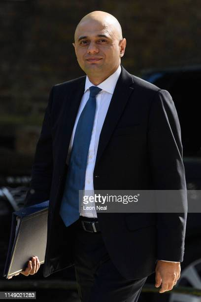 Home Secretary Sajid Javid arrives for the weekly Cabinet meeting at Downing Street on May 14 2019 in London England