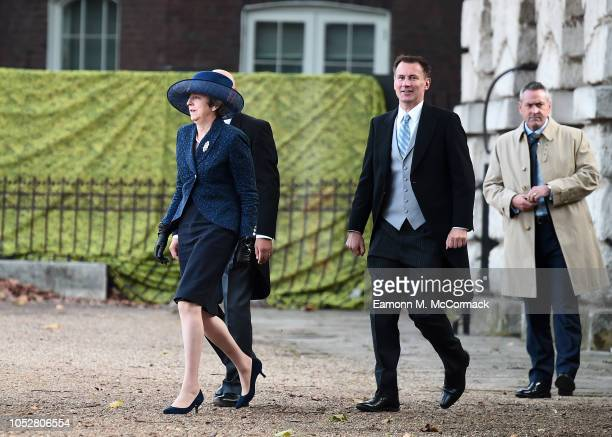 Home Secretary Sajid Javid Prime Minister Theresa May and Foreign Minister Jeremy Hunt attend Ceremonial Welcome for the Dutch Royal visit on October...