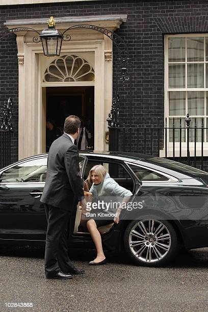 Home Secretary Theresa May arrives in Downing Street for the weekly cabinet meeting on July 13 2010 in London England The Cabinet is likely to...