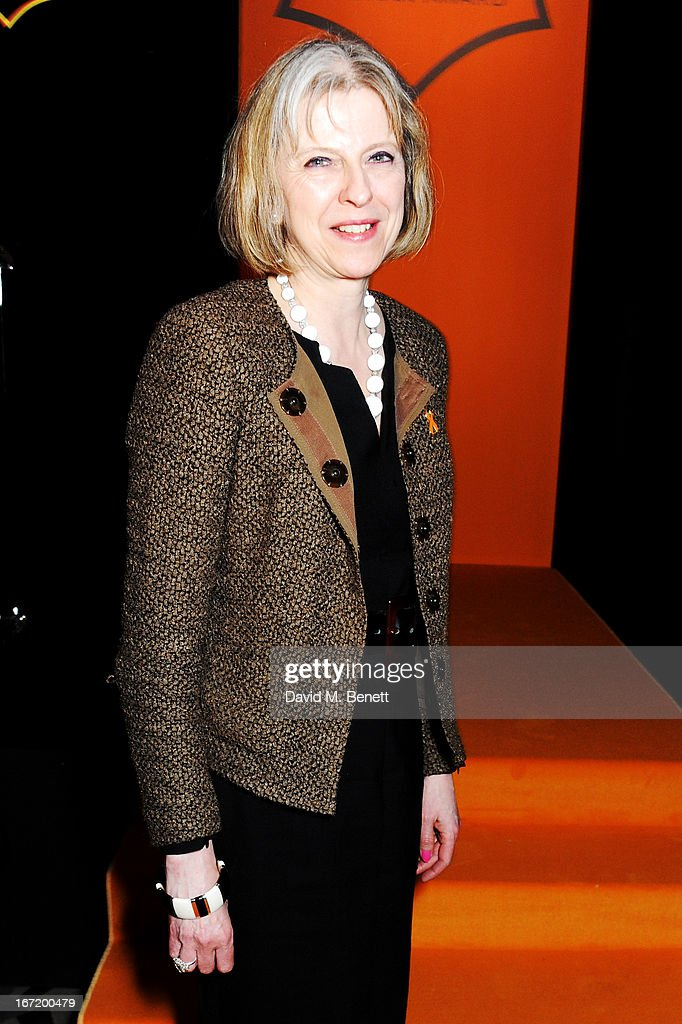 Home Secretary Theresa May attends the Veuve Clicquot Business Woman Award 2013 at Claridge's Hotel on April 22, 2013 in London, England.