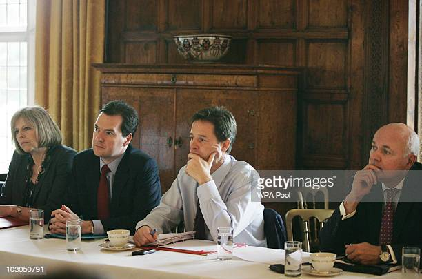 Home Secretary Theresa May Chancellor George Osborne Deputy Prime Minister Nick Clegg and Secretary of State for Work and Pensions Iain Duncan Smith...