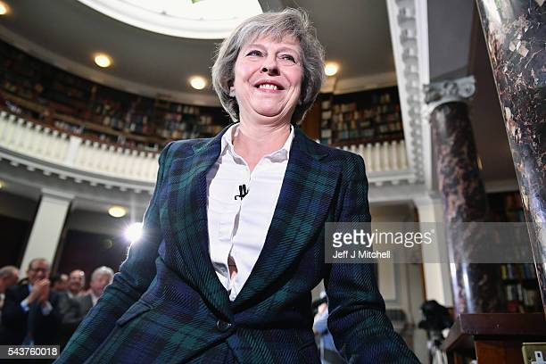 Home Secretary Theresa May launches her bid for the Conservative Party leadership on June 30 2016 in LondonEnglandNominations for MP's to declare...
