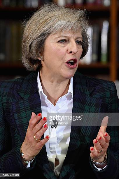 Home Secretary Theresa May launches her bid for the Conservative Party leadership on June 30 2016 in LondonEnglandNominations for MP s to declare...