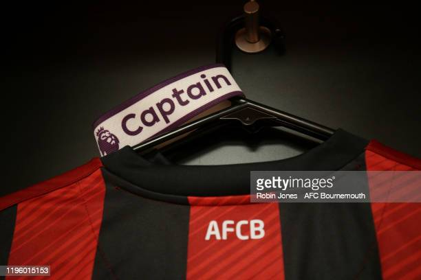 Home shirt with captain's armband in the dressing room before the Premier League match between AFC Bournemouth and Arsenal FC at Vitality Stadium on...