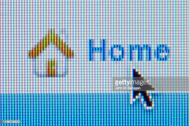 Home sign on a website