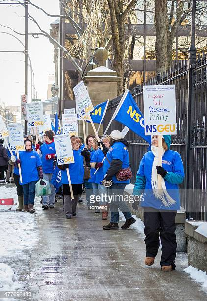 nsgeu home support workers strike - nursing slogans stock photos and pictures