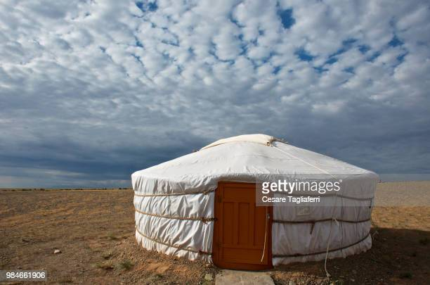 home sweet home - yurt stock pictures, royalty-free photos & images