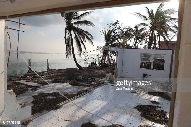 A home that was destroyed by hurricane Irma is seen on September 19 2017 in Marathon Florida The process of rebuilding has begun as the Federal...
