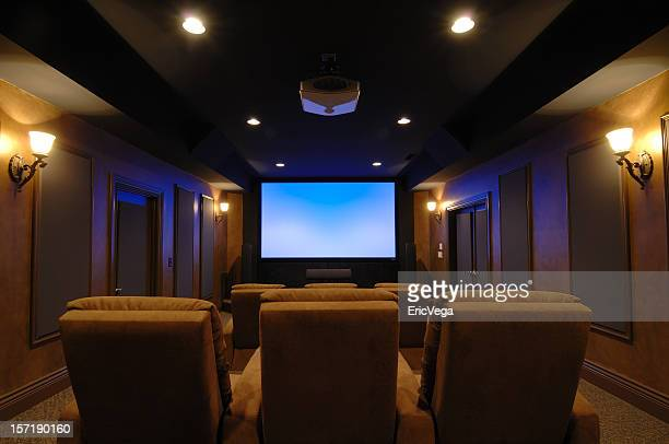 home theater room - entertainment center stock pictures, royalty-free photos & images