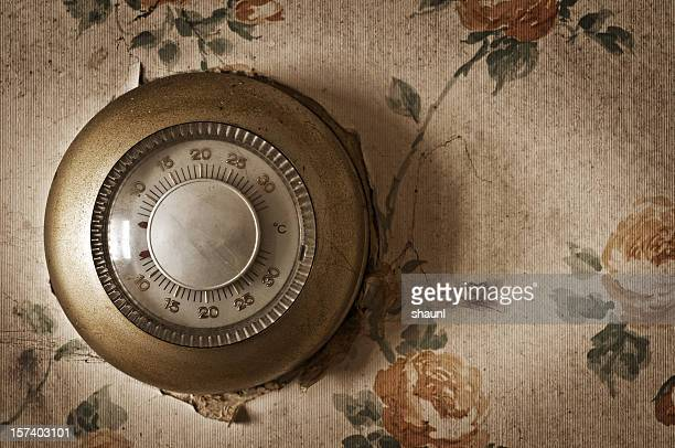 home thermostat - thermostat stock photos and pictures