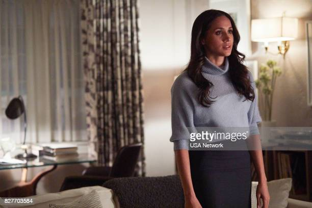 """Home to Roost"""" Episode 706 -- Pictured: Meghan Markle as Rachel Zane --"""