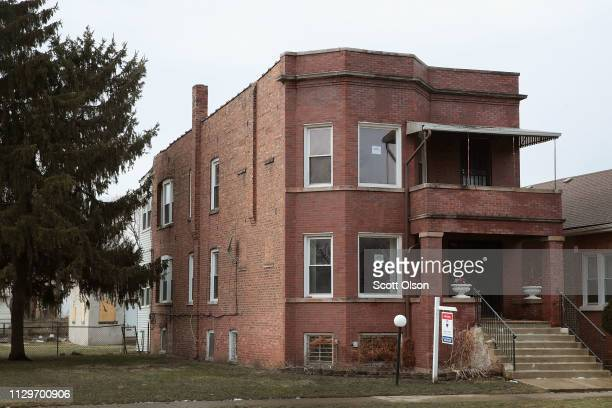 A home where infamous gangster Al Capone once lived is offered for sale in the Park Manor neighborhood on February 14 2019 in Chicago Illinois The...