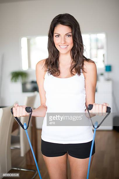 Home Workout Fitness, Sporty Woman