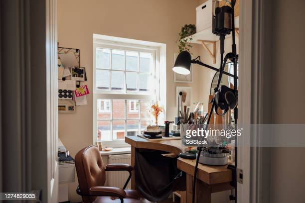 home workshop - femalefocuscollection stock pictures, royalty-free photos & images