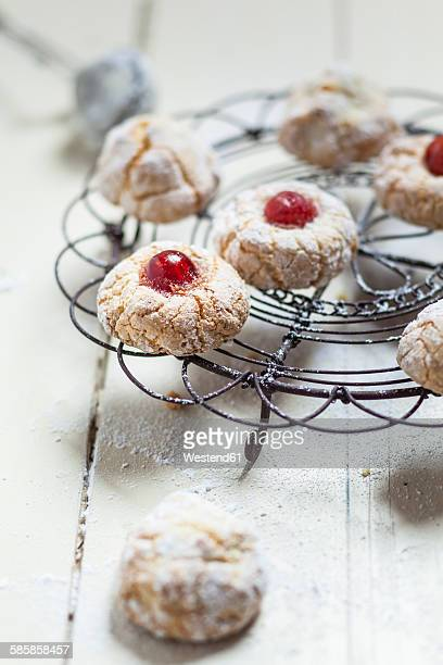 Home-baked Fior di Mandorle on cooling grid