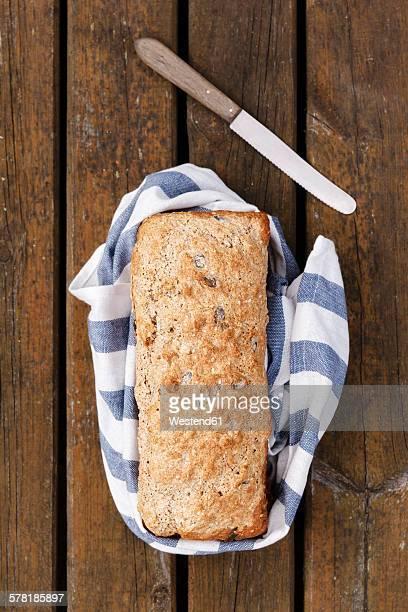 Home-baked spelt wheat bread