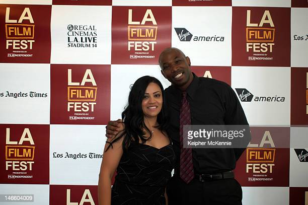 Homeboy Homegirl Industries members attend the GDog QA during the 2012 Los Angeles Film Festival at Regal Cinemas LA Live on June 17 2012 in Los...